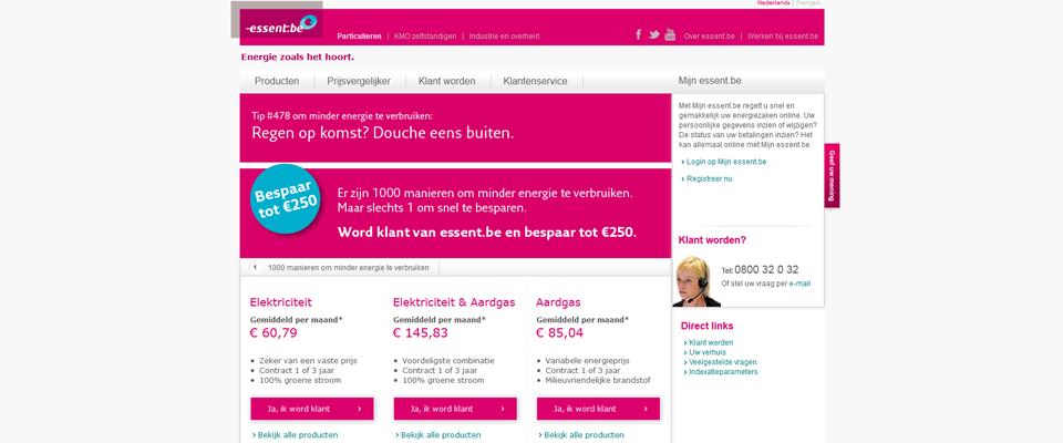 Tim Smits website Essent