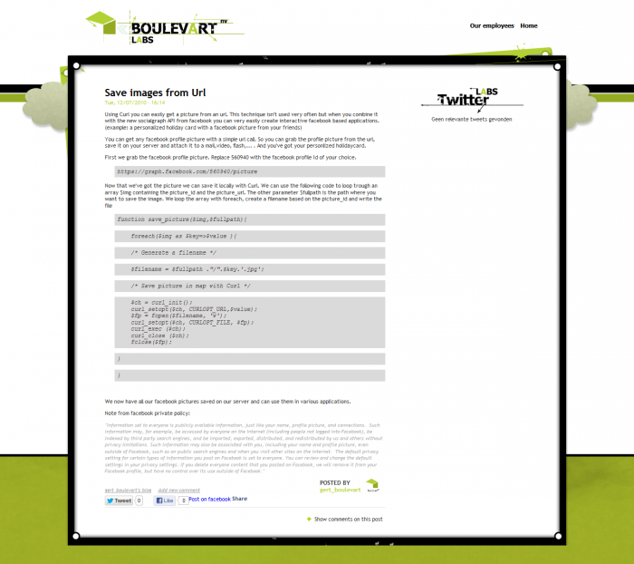 Tim Smits website Boulevart