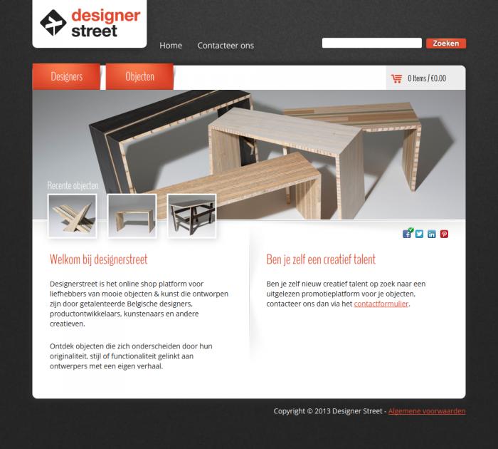 Tim Smits website Designerstreet
