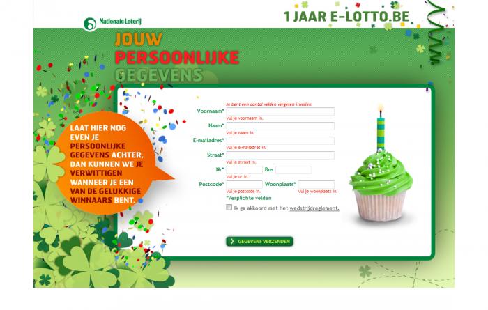 Tim Smits website E-lotto