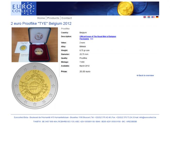 Tim Smits website Eurocollect
