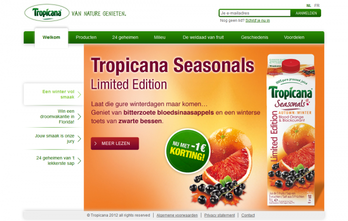 Tim Smits website Tropicana