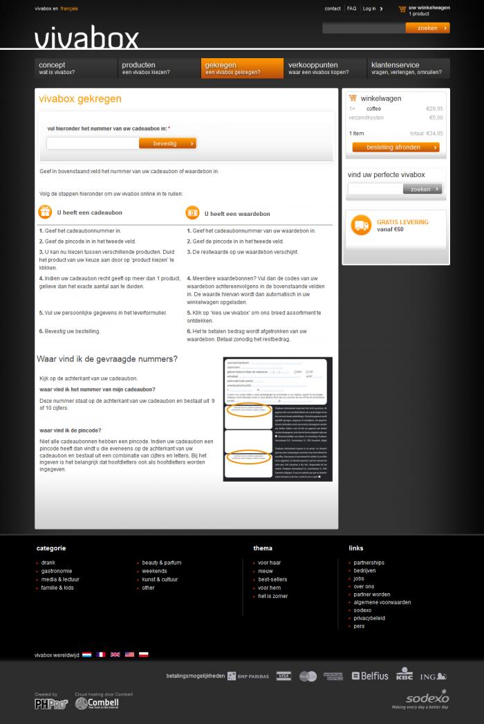 Tim Smits website Vivabox