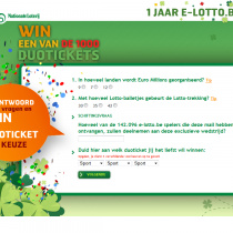 Tim Smits website E-lotto