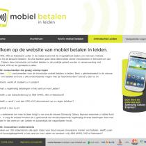 Tim Smits website Mobiel betalen in leiden
